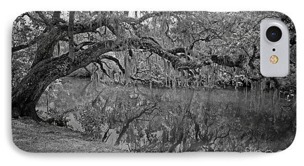 Bent Oak River Reflection IPhone Case by Larry Nieland