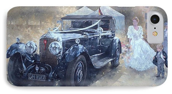 Bentley And Bride  Phone Case by Peter Miller