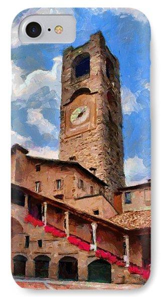 Bergamo Bell Tower Phone Case by Jeff Kolker
