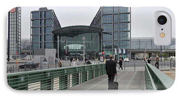 Berlin Hauptbahnhof Main Train Station Phone Case by Matthias Hauser
