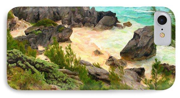 IPhone Case featuring the photograph Bermuda Hidden Beach by Verena Matthew