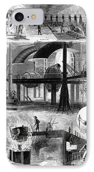 Bessemer Steel, 1876 Phone Case by Granger