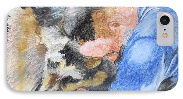 Best Friends - Oil Pastels Study IPhone Case