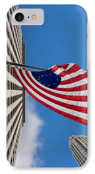 Betsy Ross Flag In Chicago Phone Case by Semmick Photo
