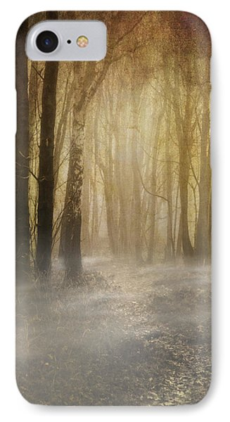 Beware Misty Woodland Path IPhone Case by Meirion Matthias