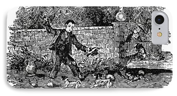 Bewick: Boy With Dogs Phone Case by Granger