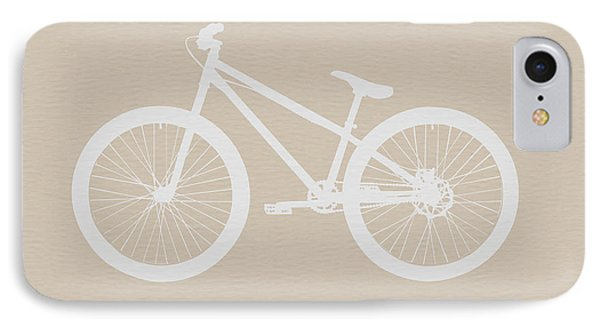 Bicycle Brown Poster Phone Case by Naxart Studio