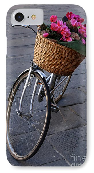 Bicycle In Lucca Italy Phone Case by Bob Christopher