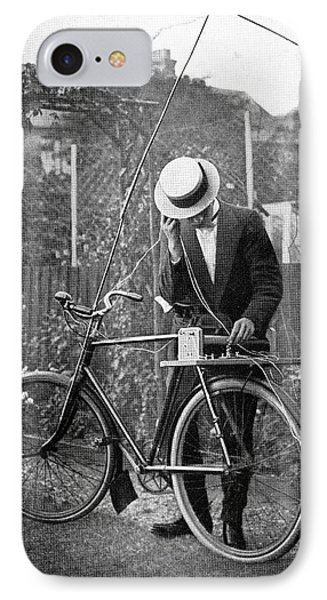 Bicycle Radio Antenna, 1914 Phone Case by