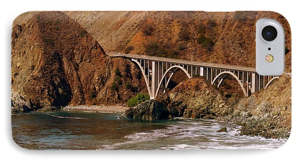 Big Creek Bridge Close Phone Case by Jeff Lowe