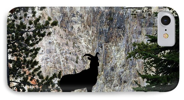 IPhone Case featuring the photograph Big Horn Sheep Silhouette by Dan Friend