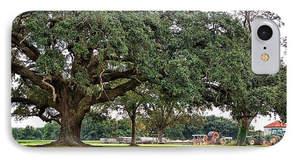 Big Oak And The Tractors Phone Case by Michael Thomas