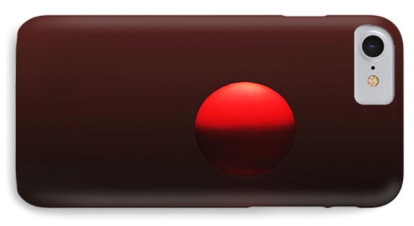 IPhone Case featuring the photograph Big Red Ball by Deborah Smith