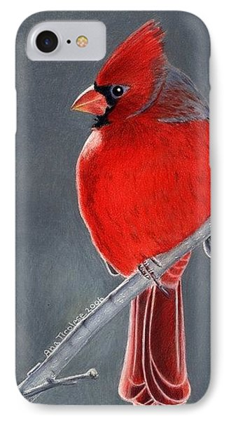 Big Red Northern Cardinal IPhone Case by Ana Tirolese
