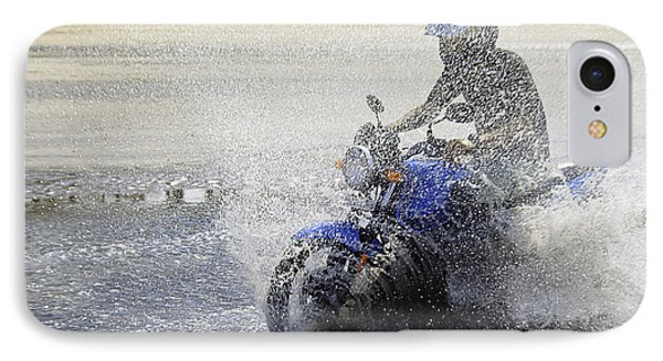 Biker  Making A Splash Phone Case by Kantilal Patel