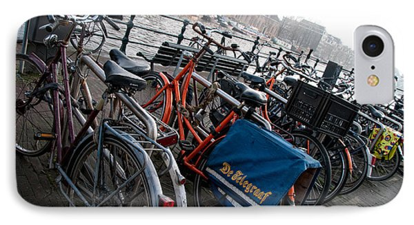 IPhone Case featuring the digital art Bikes In Amsterdam by Carol Ailles