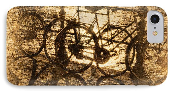 Bikes On The Canal Phone Case by Skip Nall