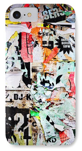 Billboard With Old Torn Posters Phone Case by Richard Thomas