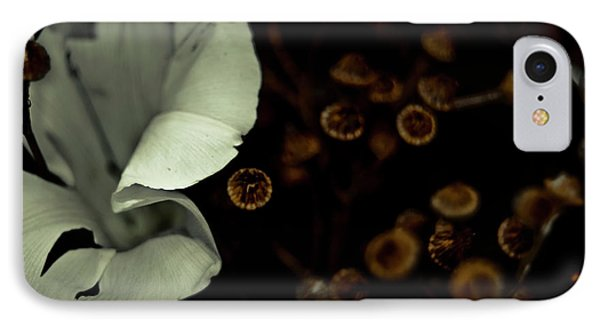 Bindweed And Seeds Phone Case by Grebo Gray