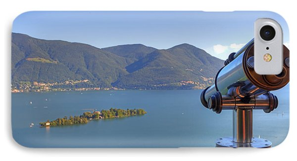 Binoculars Focused On The Isole Di Brissago Phone Case by Joana Kruse