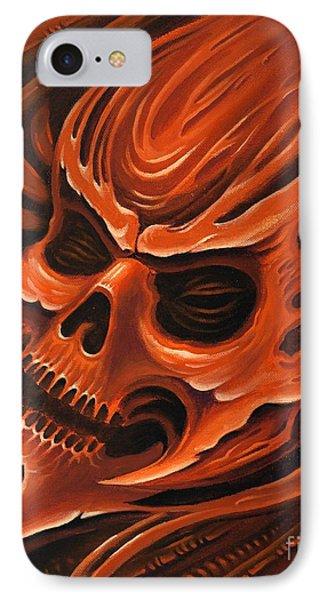 Biomech Skull 1 IPhone Case by Joe Riley