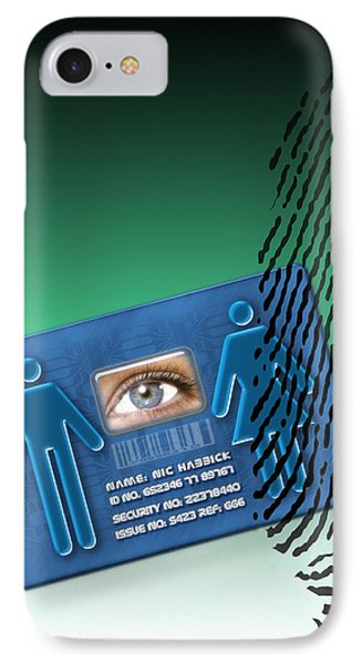 Biometric Id Card IPhone Case by Victor Habbick Visions
