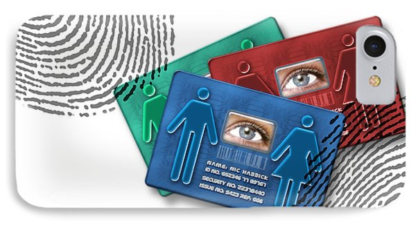 Biometric Id Cards IPhone Case by Victor Habbick Visions