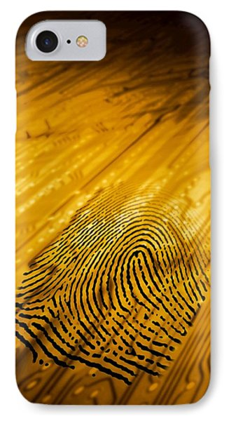 Biometric Security, Artwork Phone Case by Victor Habbick Visions