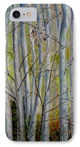 IPhone Case featuring the painting Birch Forest by Julie Brugh Riffey