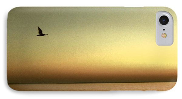 Bird At Sunrise - Sepia IPhone Case by Desiree Paquette
