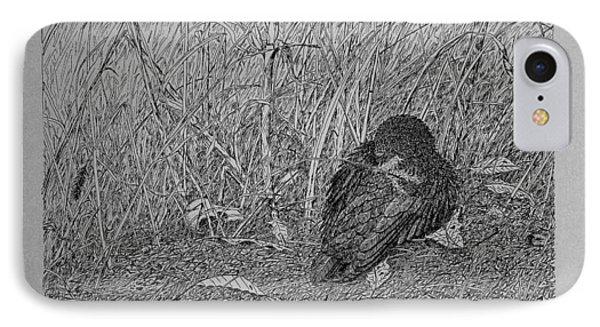 Bird In Winter IPhone Case by Daniel Reed