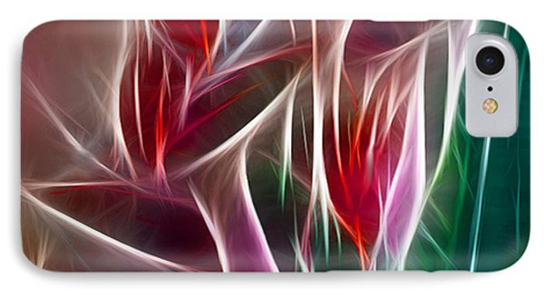 Bird Of Paradise Fractal Panel 2 IPhone Case by Peter Piatt