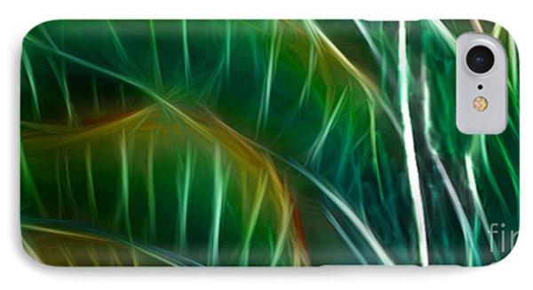 Bird Of Paradise Fractal Panel 3 Phone Case by Peter Piatt