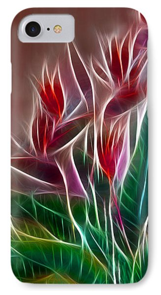 Bird Of Paradise Fractal Phone Case by Peter Piatt