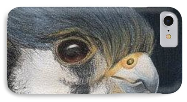 IPhone Case featuring the drawing Bird Of Prey - Aceo by Ana Tirolese