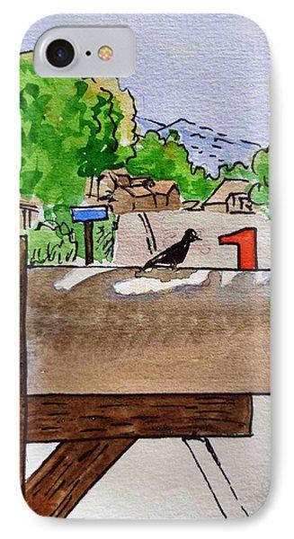 Bird On The Mailbox Sketchbook Project Down My Street Phone Case by Irina Sztukowski