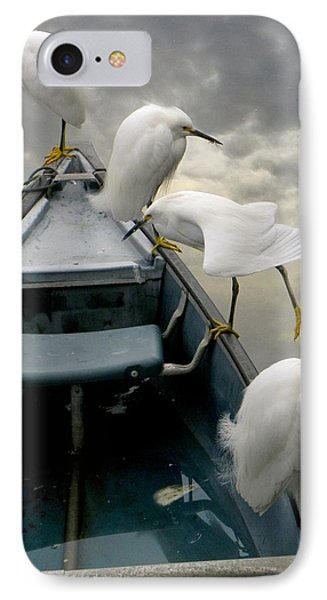Birds Boat And Beyond Phone Case by Henry Murray