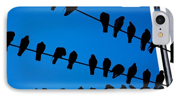 Birds On A Wire Phone Case by Karol Livote