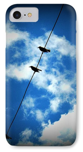 IPhone Case featuring the photograph Birds On A Wire by Robin Dickinson