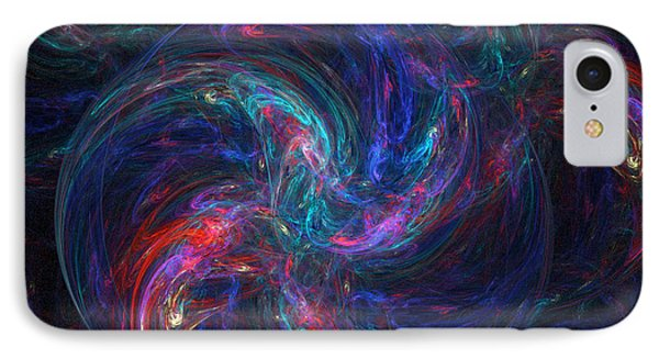 IPhone Case featuring the digital art Birth Of A Galaxy by Ann Peck