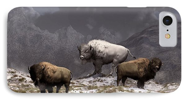 Bison King IPhone Case by Daniel Eskridge