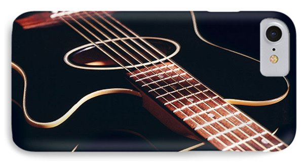 Black Acoustic Guitar Phone Case by Mike McGlothlen