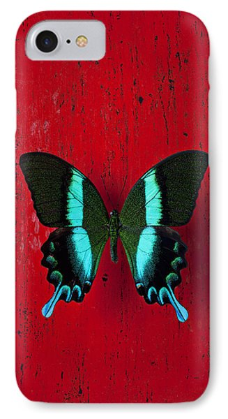 Black And Blue Butterfly  Phone Case by Garry Gay