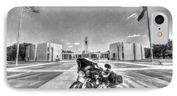 Black And White - Pgr At Houston National Cemetery IPhone Case by David Morefield