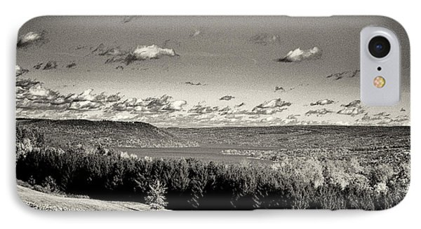 Black And White Above The Vines  IPhone Case