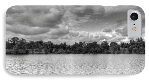 IPhone Case featuring the photograph Black And White Autumn Day by Michael Frank Jr