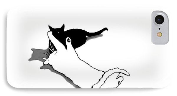 Black And White Cats IPhone Case