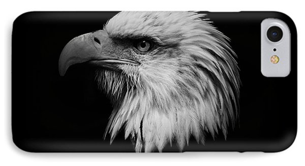 Black And White Eagle Phone Case by Steve McKinzie