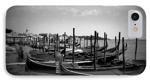IPhone Case featuring the photograph Black And White Gondolas by Laurel Best