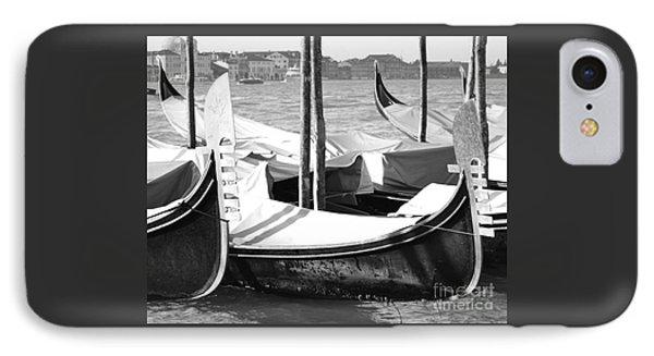 Black And White Gondolas Venice Italy Phone Case by Rebecca Margraf